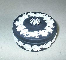 Wedgwood Jasperware Black Small Vine Candy Box