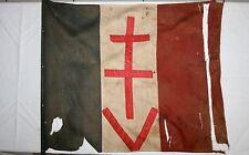 WW2,FFI, RESISTANCE, LIBERATION DRAPEAU FRANÇAIS CROIX DE LORRAINE ORIGINAL