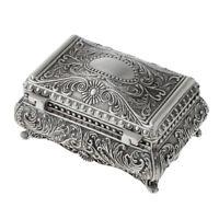 Antik Silber Schmuckkästchen Schmuckschatulle für Ihre Ringe, Ohrenringe,