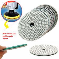 7pcs 5'' 125mm Wet Dry Diamond Polishing Pads Concrete Marble Grinding Saw Disc