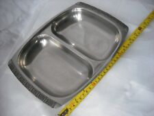 18-8 Stainless Steel Foreign  two partition serving tray/dish