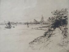 Gravure originale Gustave Leheutre Nabis paysage arbres XIX XXè