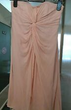 SOFT PINK TWIST SILK DRESS BY COAST SIZE 8 IDEAL FOR A WEDDING OR SPECIAL DAY