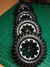 12mm Hex Tyre and Wheels 1/10th  4pcs 96mm With Foam Inserts/Tamiya/D90 etc