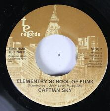 Soul 45 Captian Sky - Elementary School Of Funk / Sir Jam A Lot On Tec Records