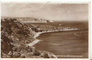 Dorset Postcard - The Two Bays - Swanage - Real Photograph - Ref TZ6455