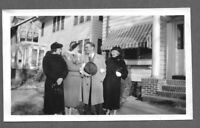 Vintage 1940s Photo Snapshot HANDSOME DAPPER GUY WITH HIS GAL AND HIS MOM
