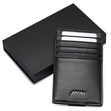 BMW ///M Car Sun Visor Credit Card Holder Genuine Leather Driving Licence Cover