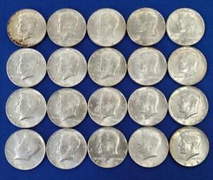 20 1968-D US 40% Silver BU+ Kennedy 50c L10414