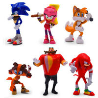 6pcs Toys Set Sonic Action Figures Models Kids Gift Child Shadow Tail Hedgehog
