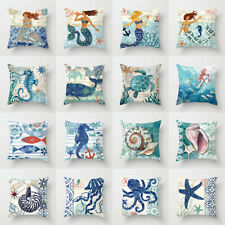 Ocean Style Sea Animals Throw Pillow Case Cushion Covers Home Decor Polyester