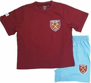 Kids West Ham United Short Pyjamas Boy Premiership Football Kit Shorts T-shirt