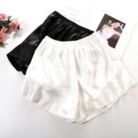 Women Faux Silk Safety Short Pant Underpants Lady Underwear Elastic Waist Shorts