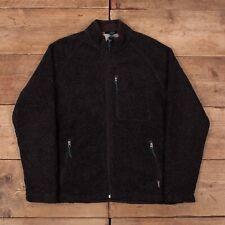 "Mens Vintage Woolrich Speckled Black Borg Fleece Jacket Medium 38"" R16228"
