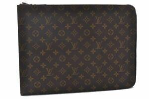 Auth Louis Vuitton Monogram Poche Documents Brief Case Old Model Junk LV B8783