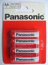 Genuine Panasonic Heavy Duty AA Batteries R6 Size-M 1.5V Pack of 4 Zinc Carbon