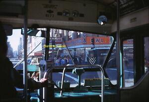 Original 35mm Slide Downtown Los Angeles 1972 Million Dollar Theater Bus