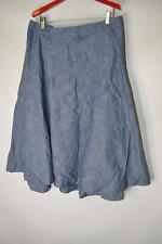 Lane Bryant Cotton Jean A Line Skirt Knee Length Elastic Zip Waist Plus Size 26