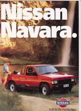 1990 NISSAN NAVARA Range New Zealand Brochure UTE KING CAB DUAL CAB 4x2 4x4