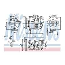Fits Audi A6 Allroad C6 3.2 FSI Quattro Genuine Nissens A/C Air Con Compressor