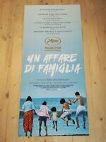 SHOPLIFTERS Original Movie Poster 12x27 Italian Kore'eda Hirokazu MANBIKI KAZOKU