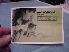 1967 MOTOROLA AUTO CAR RADIO CATALOG  STEREO, 8 TRACK