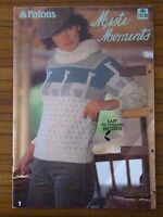 PATONS KNITTING - 692 MISTI MOMENTS LADIES JUMPER VEST SKIRT CARDIGAN 8 PLY