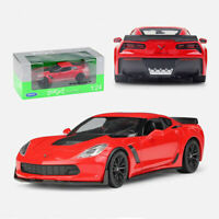 2017 Chevrolet Chevy Corvette Z06 Die-cast Car 1:24 Welly 8 inch Red