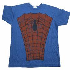SPIDERMAN Men's Short Sleeve Soft Junk Food Crew Neck Shirt Sz Small Blue Slim