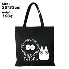 Women Men Canvas Handbags Shopping bag My Neighbor Totoro Fashion Shoulder Bag