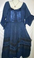 Dress Long Blue Renaissance Style w/Bustier Sz XL Free Shipping to US