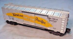 LIONEL TRAIN #6464-100 POSTWAR WESTERN PACIFIC RR. BOXCAR FEATHER -1953-54 VG-!