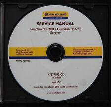 GENUINE NEW HOLLAND GUARDIAN SP.240R SP.275R SPRAYER SERVICE REPAIR MANUAL SET