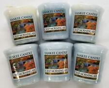 Yankee Candle Votives: CRISP MORNING AIR Wax Melts Lot of 6 Blue Wax New