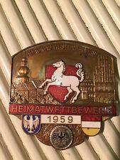 TARGHETTA EMBLEMA ADAC Oldtimer Car-Badge Gau Vestfalia-West 1959!!! Rarità!!!