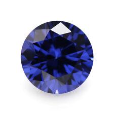 Wholesale! AAAAA Blue Sapphire Round Faceted Cut VVS Loose Gemstone U Pick Size
