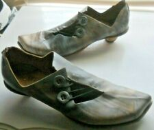 Cydwoq Vintage ~ Art To Wear ~ Marbled Kitten Heeled Comfy Shoes 38 1/2 38.5