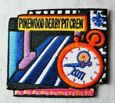 "BSA mint 2011 Dated ""Pinewood Derby Pit Crew"" Cub Scout Pack unit event patch"