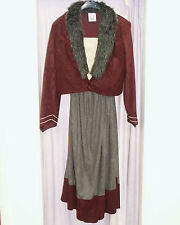 Hire Quality Brand New  Ladies Medieval Tudor Costume  Large Eur 42 Burgundy