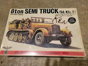 Bandai 1/48 Scale German Panzertruppe Series 8ton (sd.kfz.7) Semi Truck