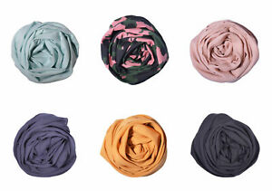 Ladies Womens Scarf Scarves Hijab Modal Navy Black Wrap Casual Head Scarf Soft