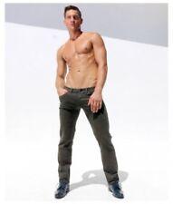 "Rufskin Aurelio Khaki Patterned Slim Fit Jeans 34"" Waist Large"