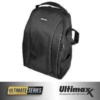 ULTIMAXX Padded Water Resistant Professional Camera and Lens Backpack (Black)