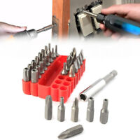 33 pc Security Bit Set Star Hex Key Torx Tamperproof Tri-Wing Screwdriver Kit