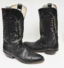 Nocona Bullhide Boots Leather Western Cowboy 6501 USA Black Size 10 D