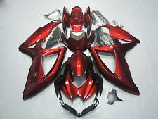 For 08 09 Suzuki GSXR600 GSXR750 2008 2009 Red Fairing Set Bodywork Plastic K8
