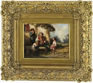 The Jig Antique Oil Painting by Hippolyte Bellangé (French, 1800-1866)