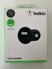 Belkin NEW Apple iPhone iPad Micro - USB - Car Charger 2.1 AMP - Black