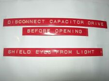 Flux Capacitor Labels Back to the Future Screen Accurate Rotex Avery Labelon