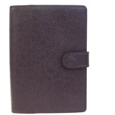 Auth LOUIS VUITTON Agenda PM Day Planner Cover Taiga Leather AU R20434 02EF414